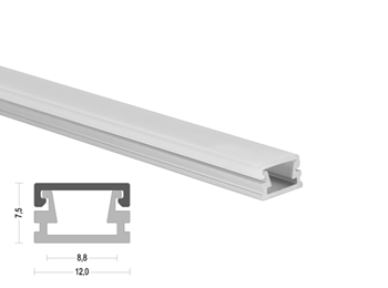 K2 12x7.5mm LED Aluminum Channel