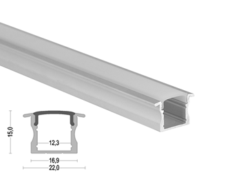 K14 25x15mm LED Aluminum Profile