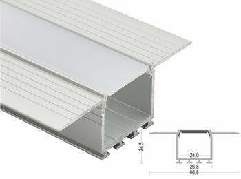KA32  Frameless 67x24.5mm LED Aluminum Profile
