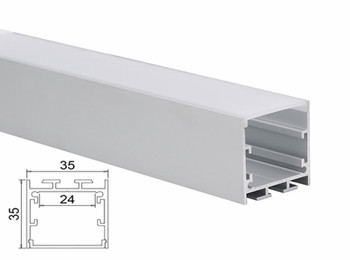 KN21 35x35mm Linkable LED Aluminum Profile